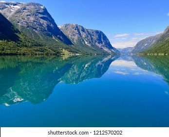 summer in Norway, Kjøsnesfjorden, Jølster, Sogn og Fjordane, Norway