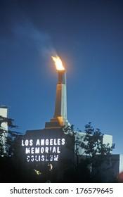 Summer Olympic closing ceremonies at the Los Angeles Memorial Coliseum, Los Angeles, California