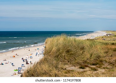 Summer on the beach of the North sea island Sylt the 08.03.2018