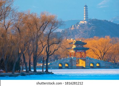 Summer Palace in Beijing, China. Now, the palace is converted to a public park and open for the public