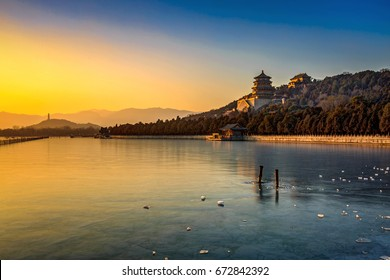 The Summer Palace of the longevity hill and Kunming Lake