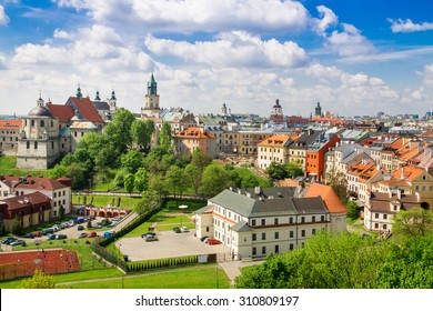Summer panorama of city of Lublin in Poland, Europe