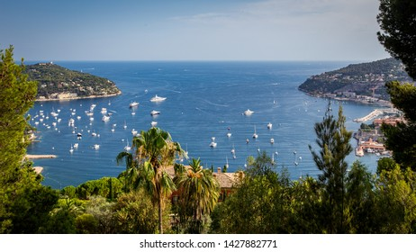 Summer panorama over Saint-Jean-Cap-Ferrat, Nice, France,