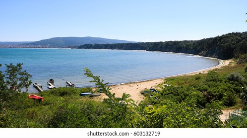 Summer panoramic view of the Black sea in Bulgaria.