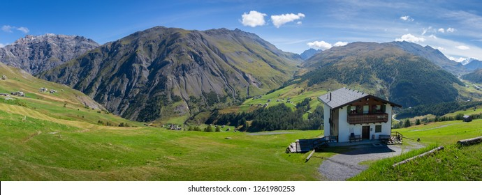 Summer photo set of the Livigno valley with images of the lake and the mountains