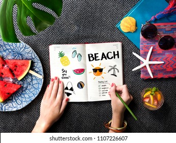 Summer picnic on a blanket