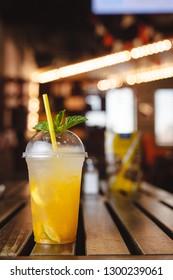 Summer refreshing lemonade with mango