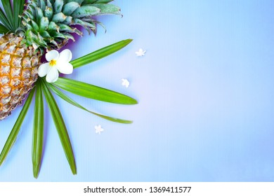 Summer relax consept background with flower and sunglasses