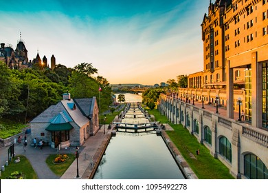 Summer at the Rideau Canal Locks in Ottawa