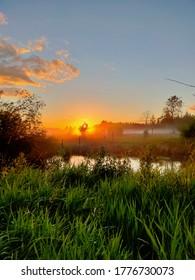 Summer river in South Karelia