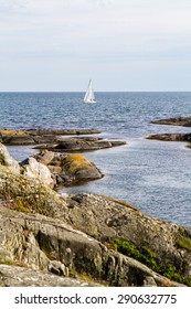 Summer sailing by the coast