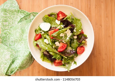 summer salad with sugar beets and farm fresh vegetables, a ketogenic diet meal