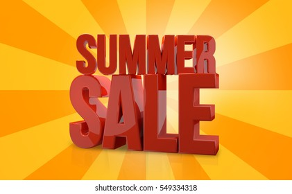 summer sale 3d render