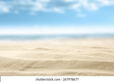 summer sand and free space with blue sky decoration