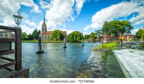 Summer scenery of Thames river in Marlow