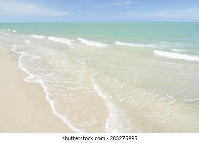 Summer sea wave and beach