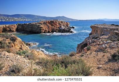 Summer seascape on Paros island, Cyclades, Greece