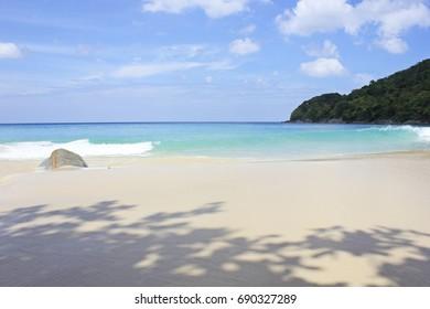 summer season, blue sea,white beach