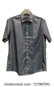 Summer shirt with short sleeves on white background