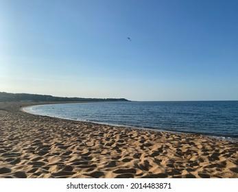 Summer in Simrishamn, Sweden. Beutiful sunnyday on the Beach