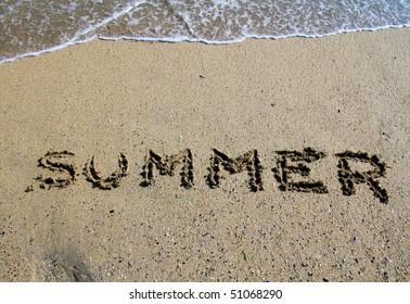 Summer sing on the beach