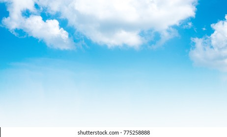 Summer sky and beautiful  in the blue sky with clouds.