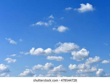 Summer sky and clouds