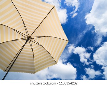 Summer sky and parasol