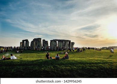 Summer Solstice celebration at Stonehenge June 20th into the 21st, 2017 in Wiltshire,UK. The Solstice marks the longest day of the year and is widely celebrated by England's pagan communities.