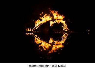 summer solstice festival fire show