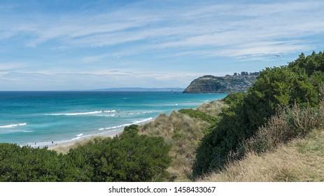 Summer at St Clair and St Kilda beaches, Dunedin, Otago, NZ.