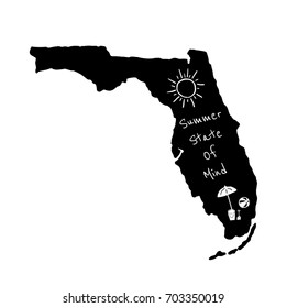 Summer State Of Mind Florida Typography Design