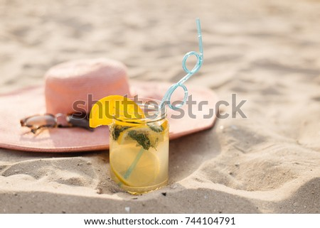 4a7b1e54 Summer Still Lifes on the Beach, sunny Luxury and Cocktails: Vintage  Suitcase and Sun