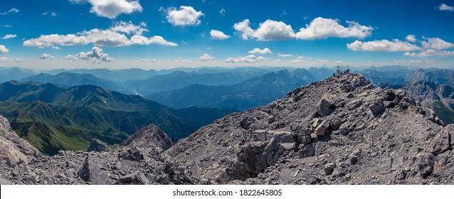 Summer sunny day on the highest mountain of Friuli-Venezia Giulia, the M. Coglians