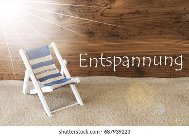 Summer Sunny Greeting Card, Entspannung Means Relax - Shutterstock ID 687939223