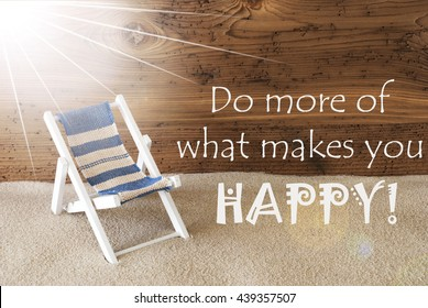 Summer Sunny Greeting Card, Quote Do More Makes You Happy