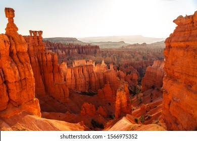 Summer Sunrise at Bryce Canyon in Bryce Canyon National Park, Utah, United States.