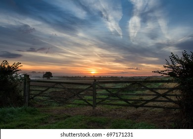 Summer Sunrise over the Cotswolds, Oxfordshire, United Kingdom