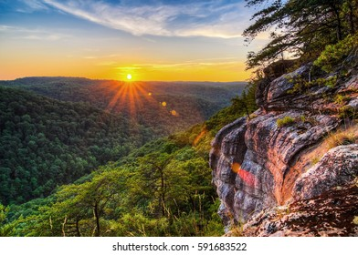 Summer sunset, Big South Fork, Tennessee