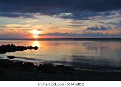 Summer Sunset, Hecla Island, Manitoba