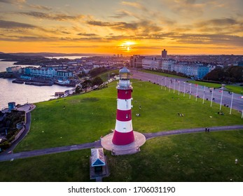 Summer sunset at The Hoe Plymouth