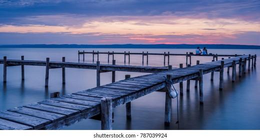 Summer Sunset Impression on Lake Neusiedl (Burgenland, Austria)