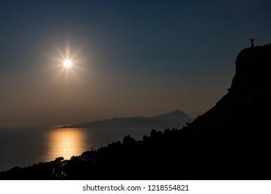 Summer sunset in the Maratea
