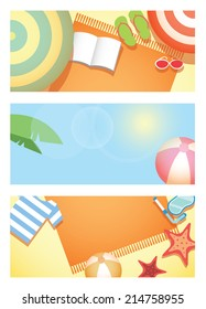 Summer time holiday background.