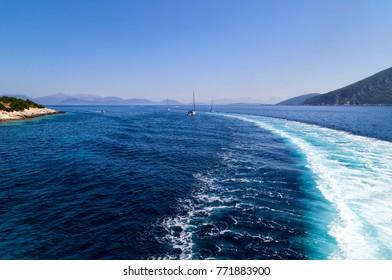 summer time near the port of Fiscardo, Kefalonia, Greece