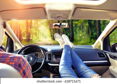 Summer time and people in car