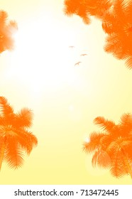 Summer travel poster or flyer background with empty space