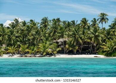 Summer tropical paradise beach at Saona island with azure caribbean sea