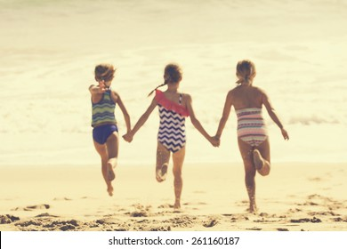 Summer Vacation at the Beach (blurred image)