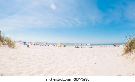 Summer vacation on the beach in South Carolina.